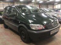2003 Vauxhall Zafira 1.6 7 Seater Starts/Drives Cheap Car Spares Or Repairs Galaxy Sharan Alhambra