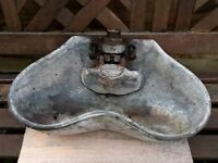 Vintage Cast Iron Cattle Water Drinker Trough