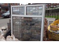 white PVC double glazing window