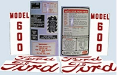 Ford 600 Tractor Complete Decal Set