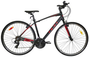 NEW DCO Odyssey Matte Black/Red Hybrid Bike