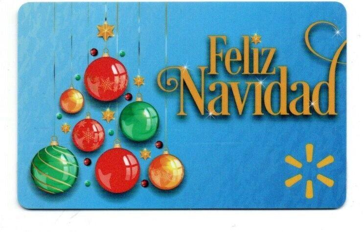 Walmart Feliz Navidad Ornaments Gift Card No $ Value Collectible FD-102167