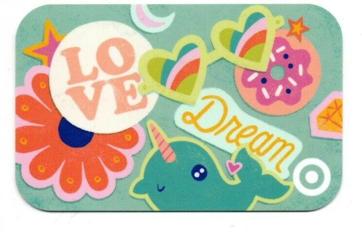 Target Love Dream Stickers Design Gift Card No $ Value Collectible #4580