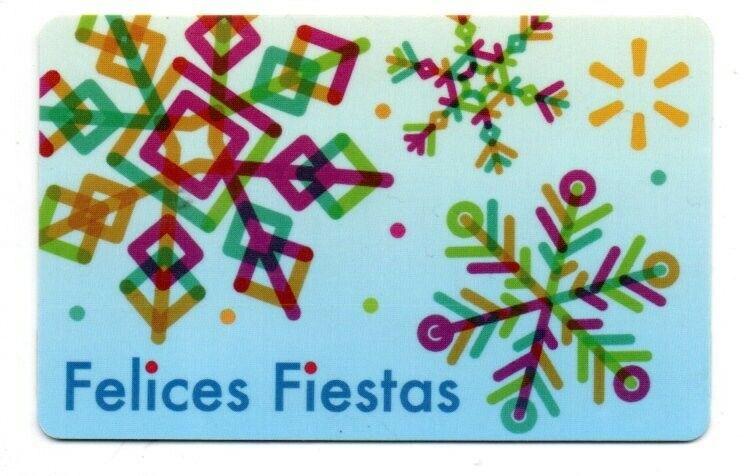 Walmart Felices Fiestas Gift Card No $ Value Collectible FD-102171
