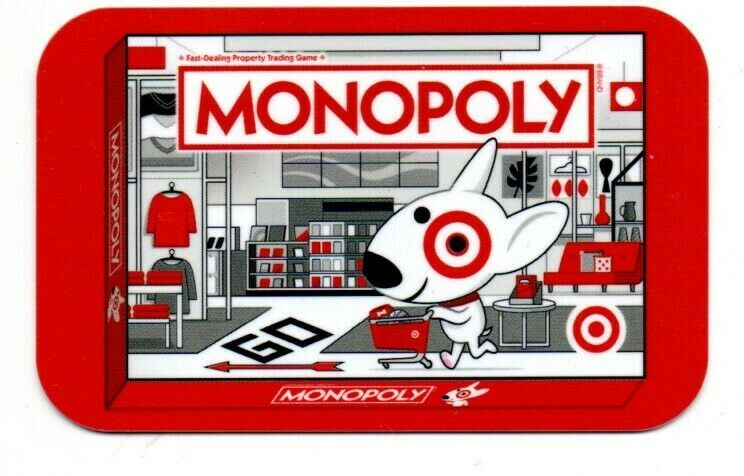 Target Bullseye Dog Monopoly Gift Card No $ Value Collectible #6106 Spot