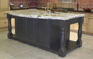 Kitchen Island Legs For Sale - Hand Turned Granite Support