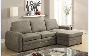 CLEAR OUT!!! Grey Fabric Sofa bed Sectional
