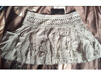 Jane Norman mini skirt size 8 New khaki