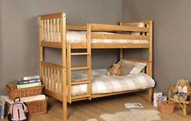 Wooden Pine Heavy Duty Bunk Bed