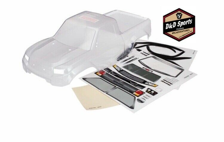 Traxxas 8111R Body, TRX-4 Sport, clear, trimmed, requires painting window masks