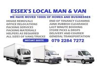 Man and Van Essex House Removals, House and Office Packing, Moving & Clearance, Courier Delivery