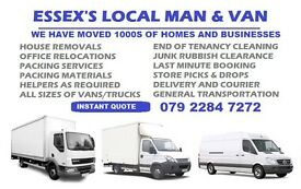 HOUSE REMOVALS ESSEX MAN AND VAN HIRE, HOUSE AND OFFICE MOVING AND PACKING, RUBBISH JUNK CLEARANCE