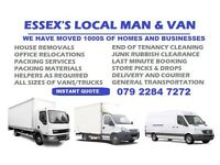 House Removals Services Man and Van Hire Essex House Moving & Clearance Essex Courier Delivery