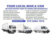 CHEAP & RELIABLE HOUSE REMOVALS VAN LONDON OFFICE MOVING RUBBISH CLEARANCE MAN WITH VAN LONDON MOVER