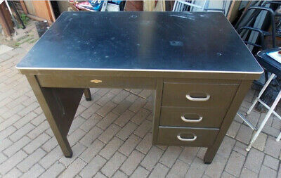 ArtMetal Vintage industrial Retro Art Metal Desk Military RAF