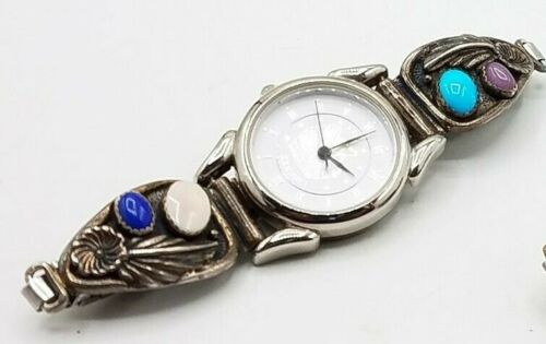 Southwest Traditions liberty Sterling Silver Multi Stones Watch Tips  Ladies