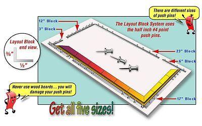 Morton LB02 Layout Block System 3 & 12-inch + 40 Push Pins