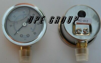 Liquid Filled Pressure Gauge Compressor Hydraulic 1.5 Face 0-60 Lower Mnt 18