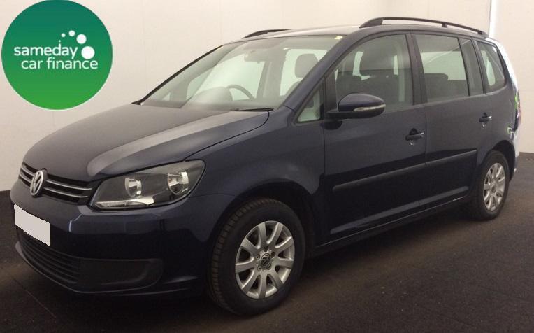 ONLY £186.97 PER MONTH BLUE 2012 VW TOURAN 1.6 TDI S DIESEL MANUAL 7 SEATER