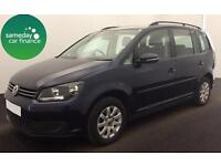 ONLY £186.97 PER MONTH BLUE 2012 VW TOURAN 1.6 TDI S DIESEL MANUAL 7 SEATER