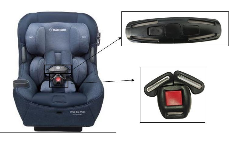 Baby Car Seat Harness Chest Clip Buckle Safety for Maxi-Cosi