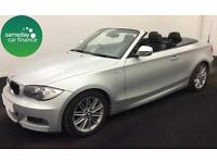 £214.56 PER MONTH SILVER 2010 BMW 118 2.0 M SPORT STEP CONVERTIBLE PETROL