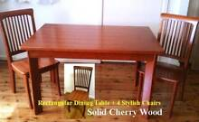 Dining Table + 4 Chairs (Display Unit)– High Quality Solid Wood Auburn Auburn Area Preview