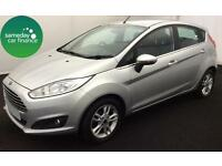£192.39 PER MONTH FORD FIESTA SILVER 2014 1.6 POWERSHIFT ZETEC 5 DR PETROL AUTO