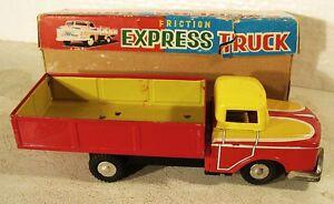 Super Vintage Litho Tin Truck  Made in Japan