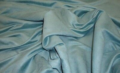 """Suede Upholstery Tide Pool Micro Faux Suede Drapery Sofa Fabric by the yard 58"""""""
