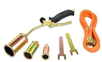 Propane Butane Gas Heating Torch Burner Hose Regulator Roofers Plumbers Kit (Best Propane Heats)