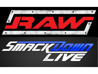 2-6 x WWE RAW/Smackdown TV Live 8th/9th May Wrestling Tickets - O2 Arena London