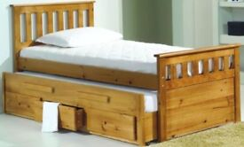 Single Cabin Bed Pine Cabin Bed With Pull Out Single Guest Bed With 3 Draw Storage