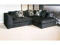 Zing corner sofas black or grey always in stock