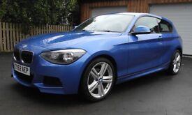 BMW 120d M-Sport 3 door hatchback, DCT automatic steptronic transmission