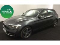 £239.14 PER MONTH GREY 2012 BMW 118D 2.0 SPORT HATCHBACK MANUAL DIESEL