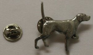 English Pointer Dog Fine PEWTER PIN Jewelry Art USA Made