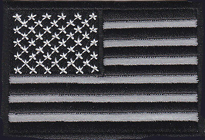 TACTICAL COMBAT USA FLAG  3 INCH REFLECTIVE ACU VELCRO PATCH