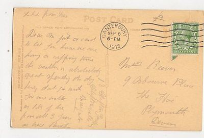 Miss M Reeves Osbourne Place The Hoe Plymouth 1915 301a