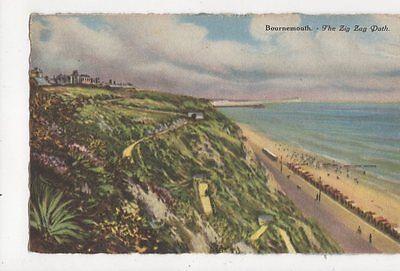 Bournemouth Zig Zag Path 1928 Postcard 249a