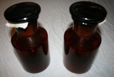 Gebraucht, 2 Stück neue Drogerie / Apotheker / Laborflaschen mit Weithals 500 ml Braunglas  gebraucht kaufen  Leipzig