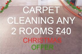 CARPET CLEANING | FAMILY RUN BUSINESS | SPECIAL CHRISTMAS OFFER | ANY 2 ROOMS ONLY £40