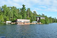 Loon Lodge open year around on 0.23 acre island on Temagami Lake