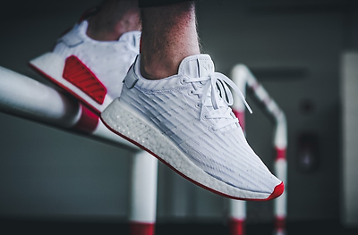 sports shoes 7769c 7d1b3 ADIDAS NMD R2 PK SHOES WHITE  RED BA7253 US MENS SZ 4-11 kanye Item  Number 182519997749