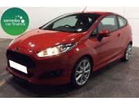 £185.93 PER MONTH RED 2013 FORD FIESTA 1.0 E/B ZETEC S 3 DOOR PETROL MANUAL