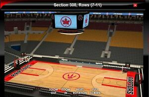 TORONTO RAPTORS TICKETS SECTION 308