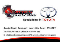 Beatties Toyota Parts Newry, Breaking a large variety of Toyota models 1980-2017
