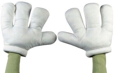 Herren Damen L Weiß Überdimensional Cartoon Hände Maskenkostüm - Cartoon Hände Kostüm