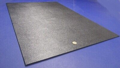 Black Abs Sheet 316 .187 X 24 X 36 Haircell Textured One Side