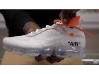 limited edition off white trainers ,vapormax ,presto,nike air max 90